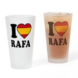 I Love Rafa Nadal Drinking Glass