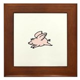 Pigs Fly Framed Tile
