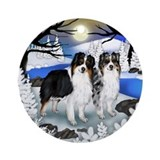 Australian Shepherd Dogs Ornament (Round)