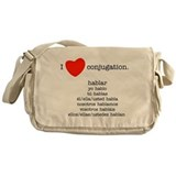 I heart conjugation Messenger Bag