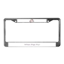 Cute Flying pig License Plate Frame