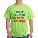 Obama Answer: Green T-Shirt