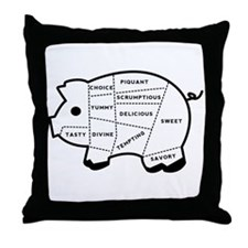 Pig Eater's Chart Throw Pillow