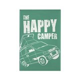 The Happy Camper Rectangle Magnet
