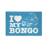 I Love My Bongo - Blue Rectangle Magnet