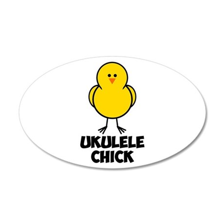 Ukulele Chick 22x14 Oval Wall Peel