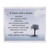 &amp;quot;It starts with a dream&amp;quot; Blanket