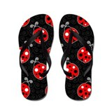 Ladybug Flip Flops Flip Flops (Red / Black)