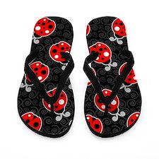 Ladybug Flip Flops Flip Flops (Red / Black)