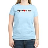 Kyan loves me Women's Pink T-Shirt