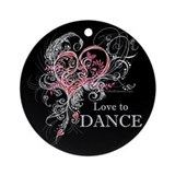 Love to Dance Ornament (Round)