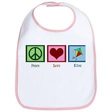 Peace Love Kites Bib