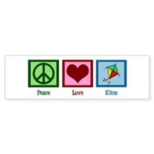 Peace Love Kites Bumper Sticker