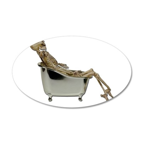 Skeleton Bathtub 38.5 x 24.5 Oval Wall Peel