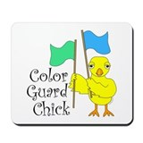 Color Guard Chick Text Mousepad