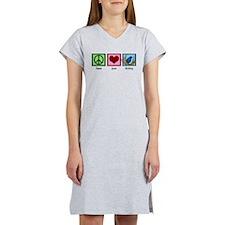 Peace Love Birding Women's Nightshirt
