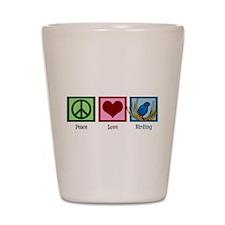 Peace Love Birding Shot Glass