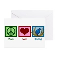 Peace Love Birding Greeting Cards (Pk of 10)