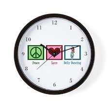 Peace Love Belly Dancing Wall Clock