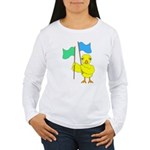 Color Guard Chick Women's Long Sleeve T-Shirt