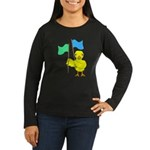 Color Guard Chick Women's Long Sleeve Dark T-Shirt