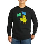 Color Guard Chick Long Sleeve Dark T-Shirt