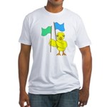 Color Guard Chick Fitted T-Shirt