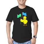 Color Guard Chick Men's Fitted T-Shirt (dark)