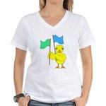 Color Guard Chick Women's V-Neck T-Shirt