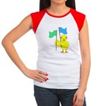 Color Guard Chick Women's Cap Sleeve T-Shirt