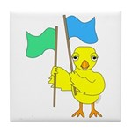 Color Guard Chick Tile Coaster