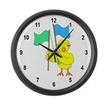 Color Guard Chick Large Wall Clock