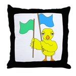 Color Guard Chick Throw Pillow