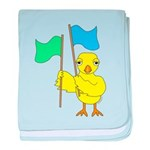 Color Guard Chick baby blanket