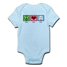 Peace Love Cook Infant Bodysuit