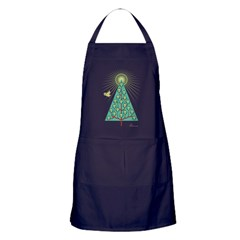 Skullbirds Christmas Apron (dark)