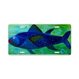 Lady Fish Aluminum License Plate