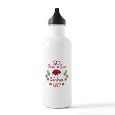 Peace Love Ladybugs Sports Water Bottle