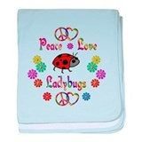 Peace Love Ladybugs baby blanket