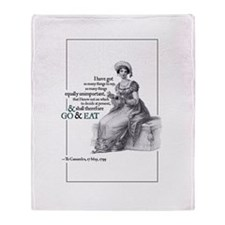 Jane Austen Throw Blanket