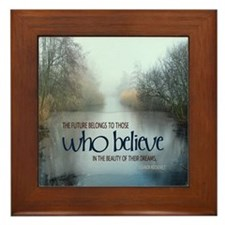 Dreams Quote on Framed Tile
