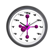 Elements Wall Clock - Purple