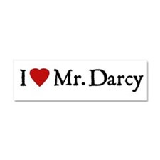 Jane Austen Heart Darcy Car Magnet 10 x 3