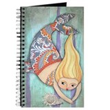 Cute Chubby Mermaid Blank Journal