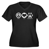 Peace Love Biochemistry Women's Plus Size V-Neck D