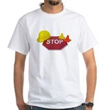 Stop Sign Hard Hat Safety Con Shirt