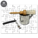 Straight Razor Mug Brush Puzzle
