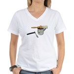 Straight Razor Mug Brush Women's V-Neck T-Shirt