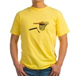 Straight Razor Mug Brush Yellow T-Shirt