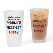Otherwise Known Best Poppy Drinking Glass